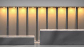 3d rendered  marble podium indoor photo