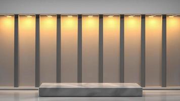 3d rendered marble podium in interior background photo