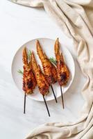 grilled chicken wings skewer photo