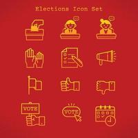 conjunto de iconos de elecciones vector