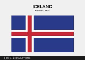 Illustration of Iceland National Flag vector
