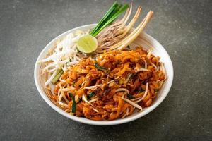 stir-fried noodle with tofu and sprouts or Pad Thai photo