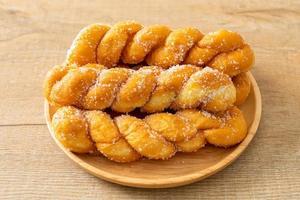 sugar doughnut in spiral shape photo