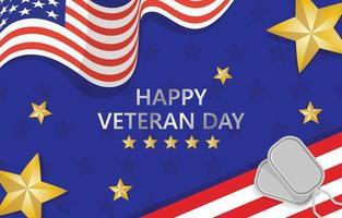 Happy Veteran Day Element Background vector