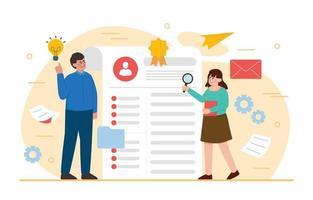 concepto de contratación de empleados vector
