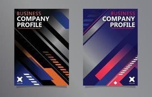 Business Company Profile Geometric Gradient Template vector