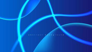 abstract neon blue background with light line vector