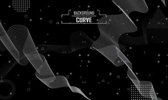 abstract line curve background vector