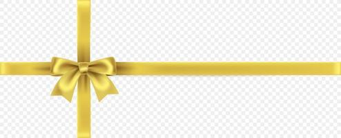 Golden ribbon isolated vector