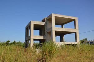 Unfinished residential building on the island of Rhodes in Greece photo