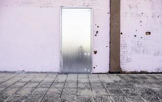 puerta del trastero de metal foto