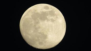 luna llena en el cielo nocturno. luna sobre fondo negro foto