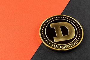 Dogecoin DOGE cryptocurrency means of payment in the financial sector photo