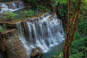 Huai Mae Khamin Waterfall in Kanchanaburi, Thailand. photo