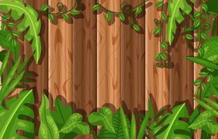 Wood Foliage Background vector