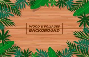 Brown Wood Background Template vector