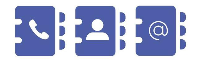 address book icon symbol vector