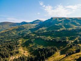 Landscape view of carpathian mountains range photo