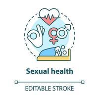 icono del concepto de salud sexual vector