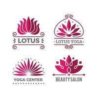 Lotus logotype nature botanical graphic symbols flowers beauty spa salon decoration icon vector