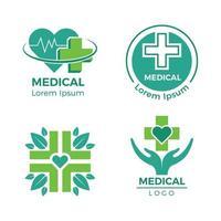 Medical logotypes medicine pharmacy clinic hospital cross plus health care symbols design template vector
