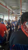 THEOLOGOS, RHODOS, GREECE - SEPTEMBER 14, 2021 Bus to Rhodes town photo