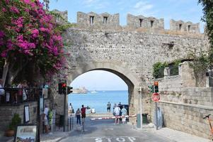 RHODOS, GREECE - SEPTEMBER 14, 2021 Old Town in Rhodos town photo