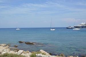 THEOLOGOS, RHODOS, GREECE - SEPTEMBER 14, 2021 Port of Rhodes photo