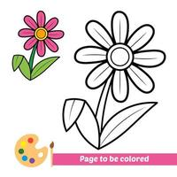 Coloring book, flower vector image