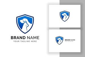 pet care and pet clinic logo design template. cat and dog vector silhouette
