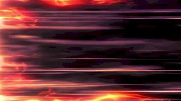 Fire effect with speed line loop background video