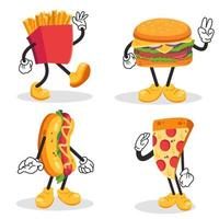 cute and adorable fast food mascot in cartoon style vector