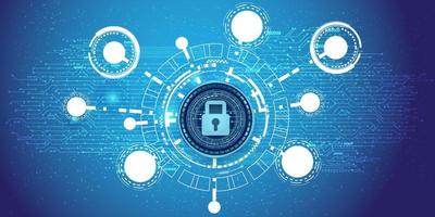 Cyber security information and network protection background. vector