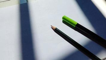 Photo of some markers on a white background