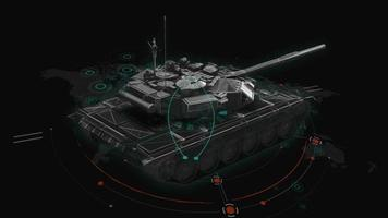 HUD 3d tank interface video