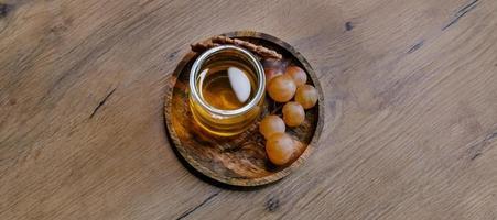 Grapes and honey. photo