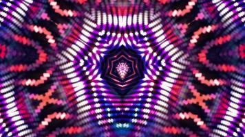 Rayos y líneas hipnóticos movimiento formando patrones en forma de estrella caleidoscopio video