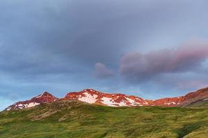 Mountain chain near Egilsstadir, East Iceland. photo