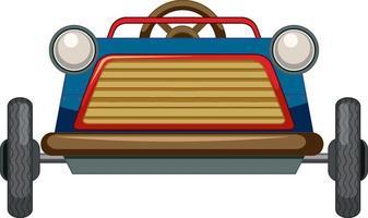 Mini coche de juguete vintage sobre fondo blanco. vector