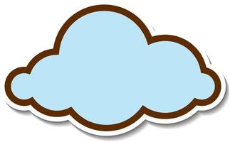 Sticker design with empty cloud isolated vector