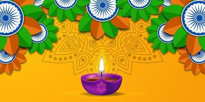 diwali festival of light rangoli mandala poster banner tarjeta de felicitación vector