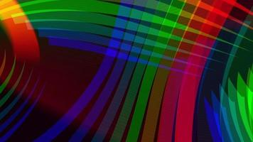 Abstract looped background with rainbow stripes video
