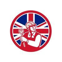 British Engineer Union Jack Flag Icon vector