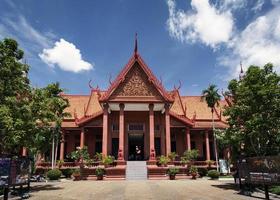 national museum landmark building exterior in phnom penh city cambodia photo