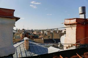 Cityscape view over the rooftops of St. Petersburg. View of the rooftops photo