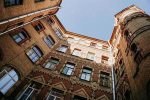 Russia. Old courtyards in the center of St. Petersburg in the summer photo