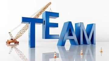 Cinema 4D rendering of abstract background illustrations of team words photo