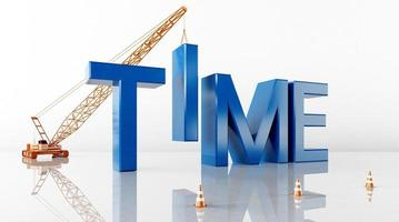 Cinema 4D rendering of abstract background illustrations of time words photo
