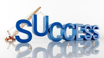 Cinema 4D rendering of abstract background illustrations of success words photo