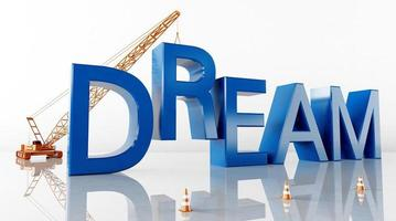 Cinema 4D rendering of abstract background illustrations of dream words photo
